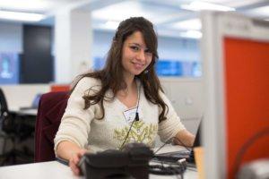 female volunteer at computer 2